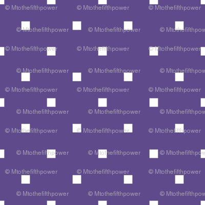 White Square Polka Dots on Ultra Violet Purple