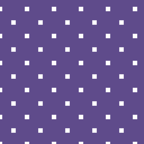 White Square Polka Dots on Ultra Violet Purple fabric by mtothefifthpower on Spoonflower - custom fabric