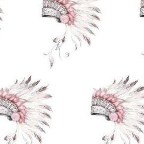 "4"" Pink and Grey Headdress Mix and Match"