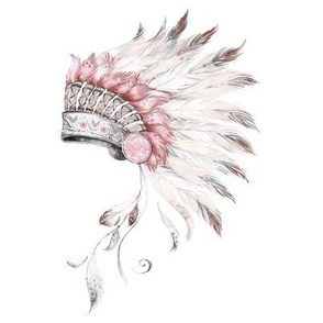 "8"" Pink and Grey Headdress Mix and Match"