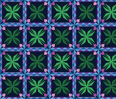 Kilim Tulips fabric by lehoux_art on Spoonflower - custom fabric
