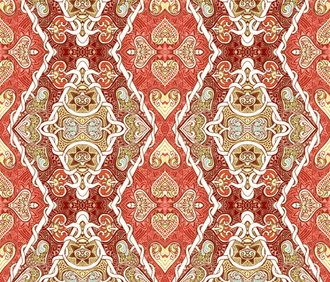 With Harlequin Heart fabric by edsel2084 on Spoonflower - custom fabric