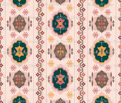Berry Boho / Nana's Turkish Kilim Carpet