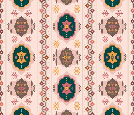 Berry Boho / Nana's Turkish Kilim Carpet fabric by zirkus_design on Spoonflower - custom fabric