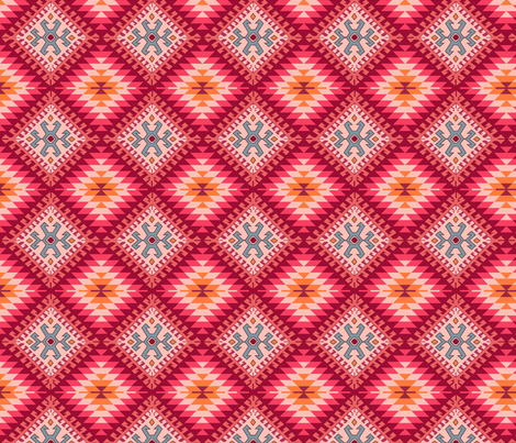 Turkish Kilim fabric by juditgueth on Spoonflower - custom fabric