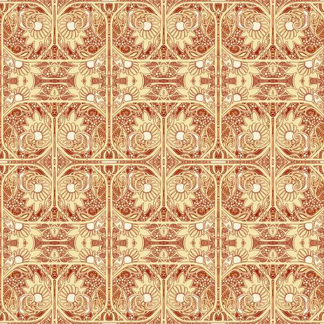Swirly Daisy Days fabric by edsel2084 on Spoonflower - custom fabric