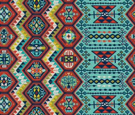 Turkish Kilim  fabric by jillcookdesigns on Spoonflower - custom fabric