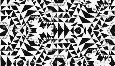 monochromatic kilim - black,white, gray