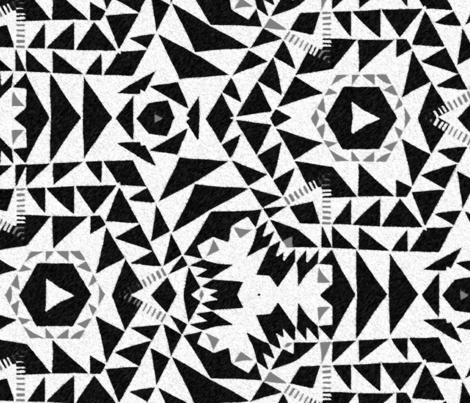 monochromatic kilim - black,white, gray fabric by nancypurvis on Spoonflower - custom fabric
