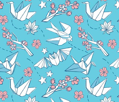 Origami fabric by mecardinal on Spoonflower - custom fabric