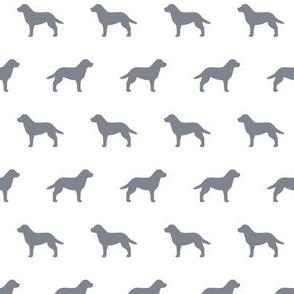 Labrador Retriever Cool Grey Silhouette