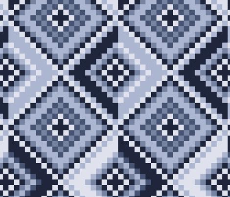 kilim-denim blues fabric by sarahjean on Spoonflower - custom fabric