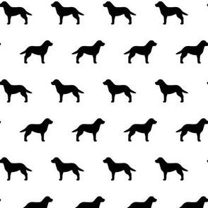 Labrador Retriever Black on White
