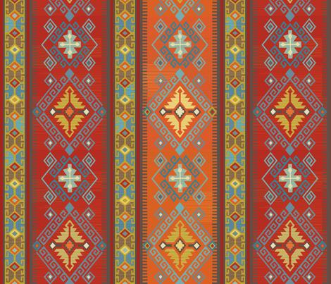 Kilim Design fabric by lily_studio on Spoonflower - custom fabric