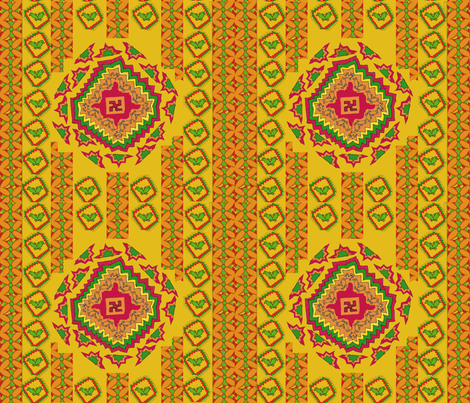 Kilimkari fabric by fable_creations on Spoonflower - custom fabric