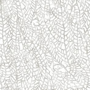 Sea Fan Spots Driftwood on White 150