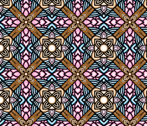 kilim eclectic bright colors fabric by bibileb28 on Spoonflower - custom fabric
