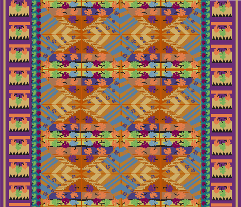 KILIM 23A-01 fabric by soobloo on Spoonflower - custom fabric