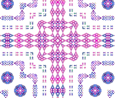 Kilim - Creating The Cosmos fabric by dovetail_designs on Spoonflower - custom fabric