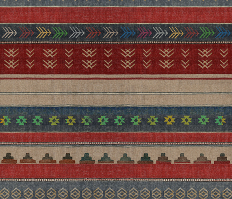 Spicy Kilim fabric by forest&sea on Spoonflower - custom fabric