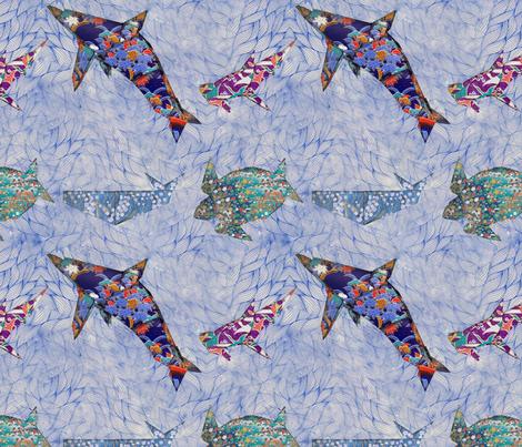 Origami Sea Creatures fabric by whimsicalvigilante on Spoonflower - custom fabric