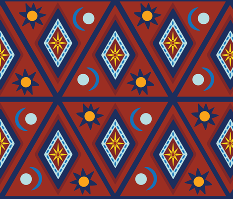 Kilim Nights fabric by cleolovescolor on Spoonflower - custom fabric