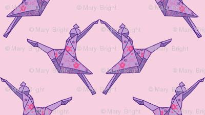 Origami Dancers in Twilight