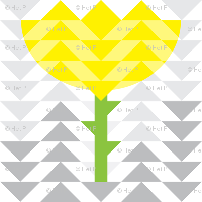 Yellow Flower Triangles