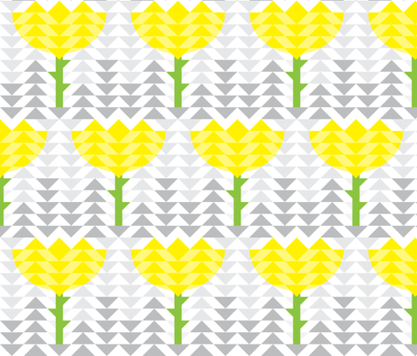 Yellow Flower Triangles fabric by het on Spoonflower - custom fabric