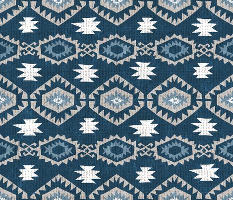 Kilim Me Blue  fabric by pattyryboltdesigns on Spoonflower - custom fabric
