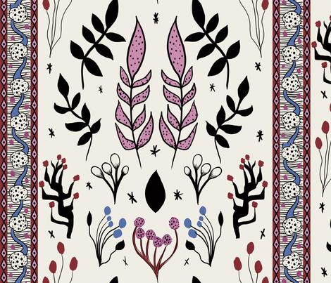 Floral Kilim fabric by kaylalalane on Spoonflower - custom fabric