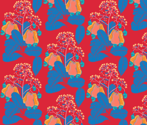 marañón / cashew tree_4 fabric by kheckart on Spoonflower - custom fabric