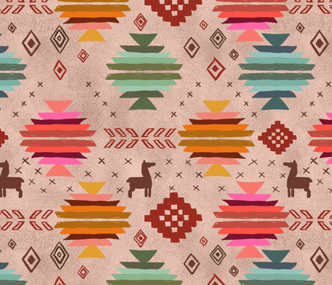 Llama Kilim Drama fabric by mrshervi on Spoonflower - custom fabric