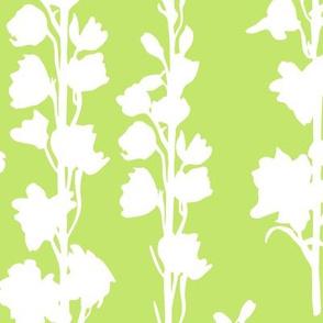 Delphinium silhouette - green