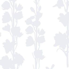 Delphinium silhouette - Oyster Grey