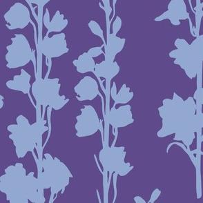 Delphinium silhouette - Ultra Violet Serenity
