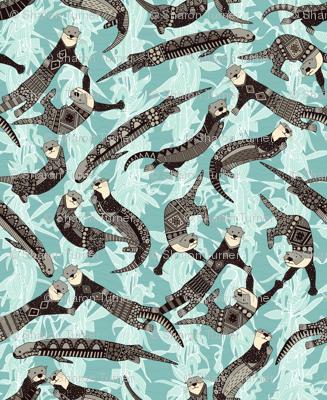 sea otters blue