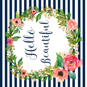 """54""""x36"""" Floral Dreams Hello Beautiful"""