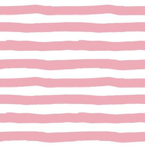 Floral Dreams Dark Pink Color / Uneven Stripes