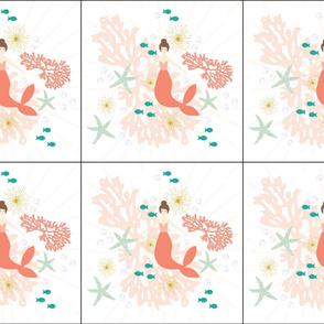 6 loveys: coral reef mermaid single motif brunette