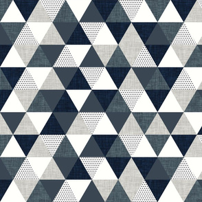 slate and navy triangles