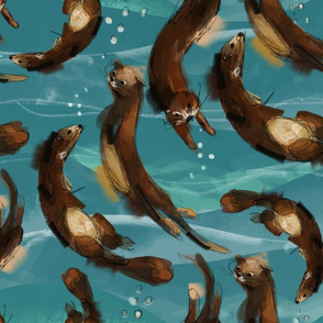pastels otterns