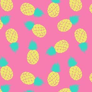Pineapple on pink Medium