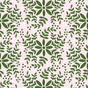 Floral motif-pink _ green