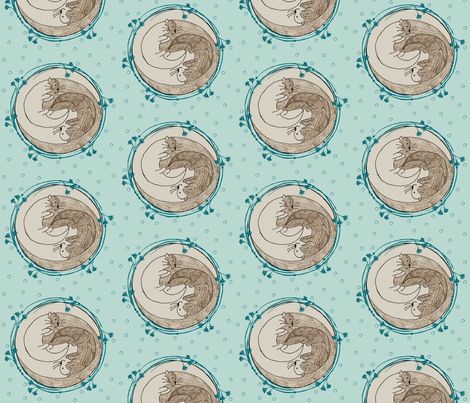 ying-yang dotty otters fabric by kae50 on Spoonflower - custom fabric