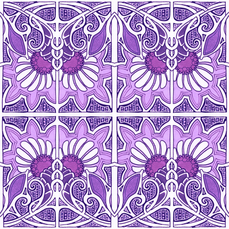 Blooming Purple in Paris fabric by edsel2084 on Spoonflower - custom fabric