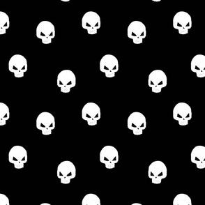 Skull on black Medium