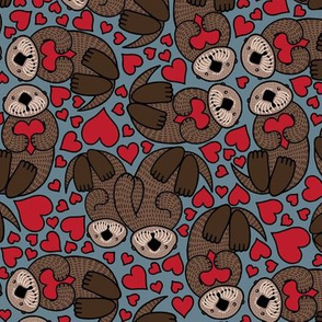 Valentine Sea Otters