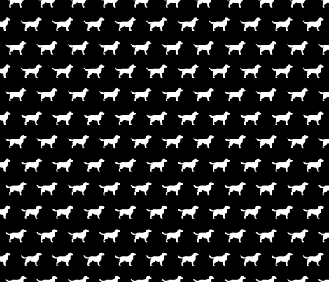 Golden Retriever Black Background fabric by mariafaithgarcia on Spoonflower - custom fabric