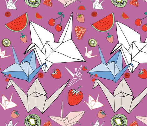 Origami Fruit salad fabric by spenceaustralia on Spoonflower - custom fabric